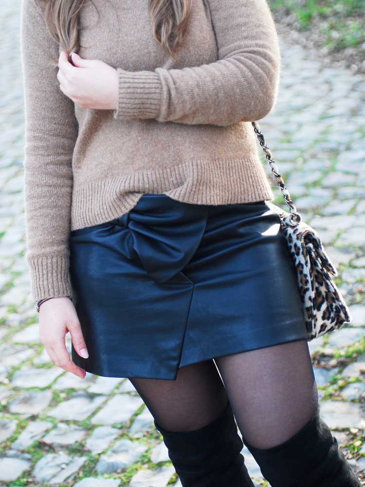 Sweater weather with faux leather