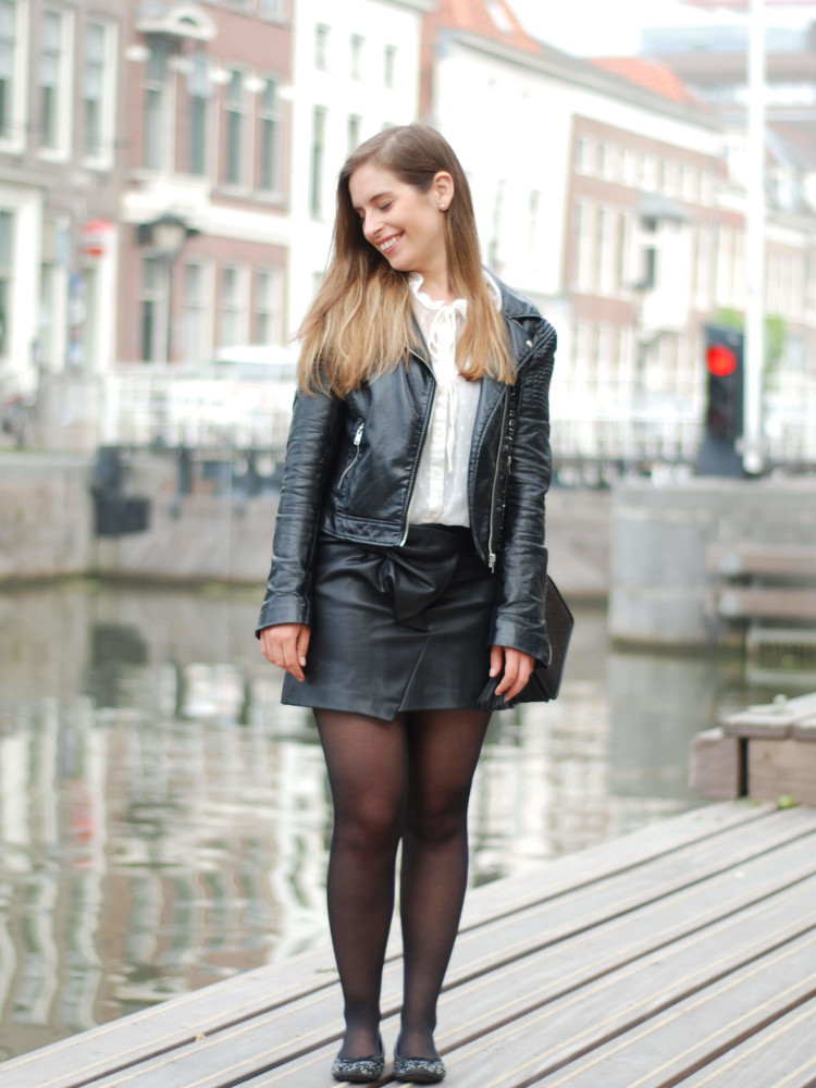 How to be romantic in faux leather