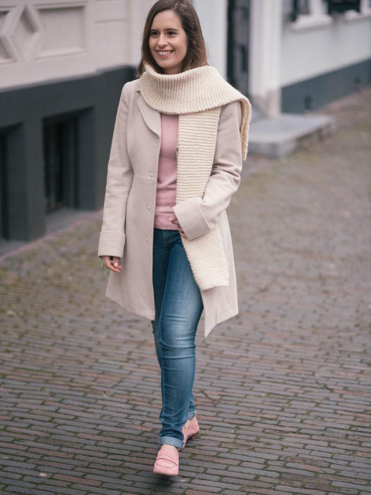 Pink, beige & hand knits