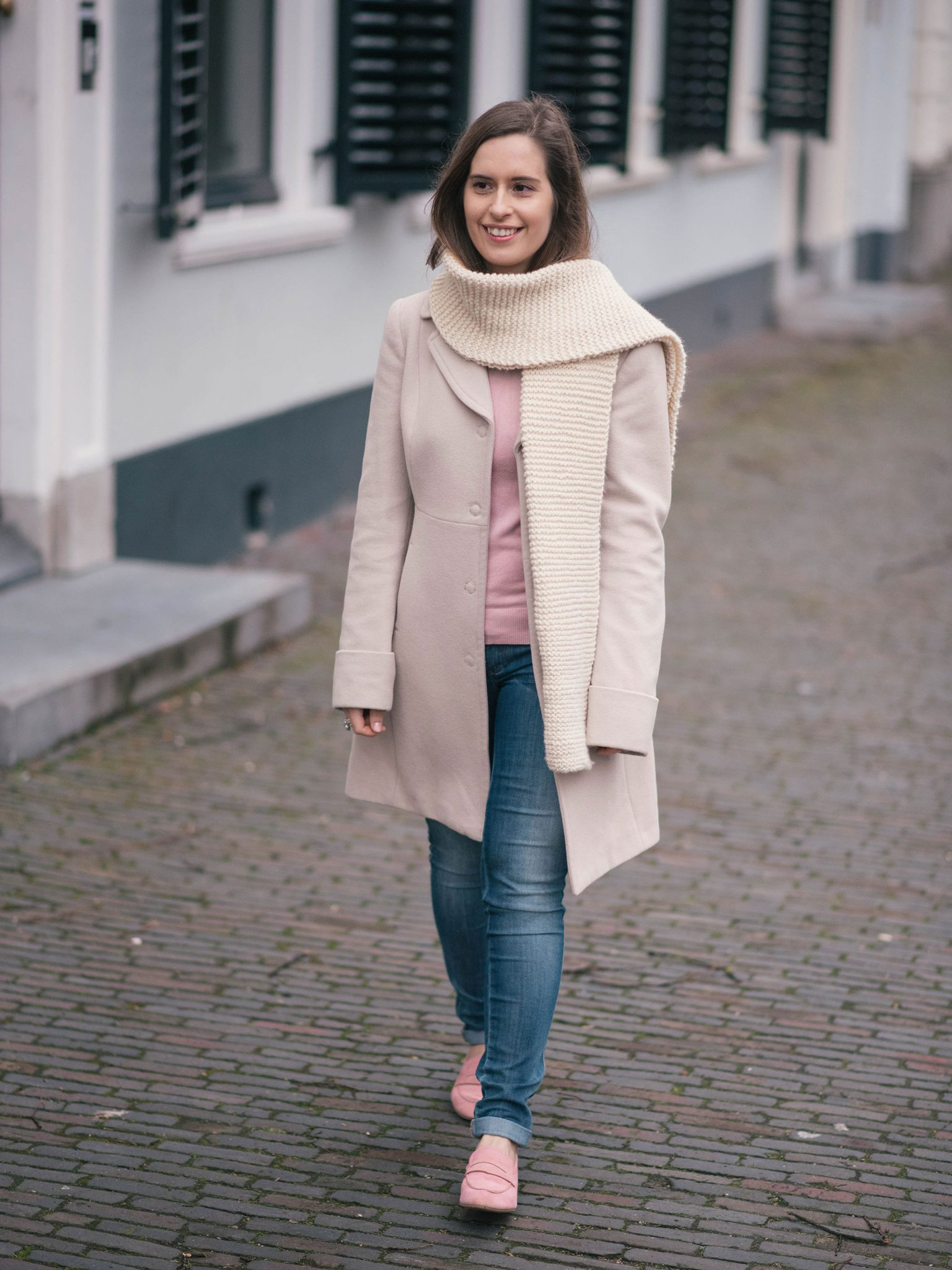 pink-beige-hand-knits-loafers-thepetitecat