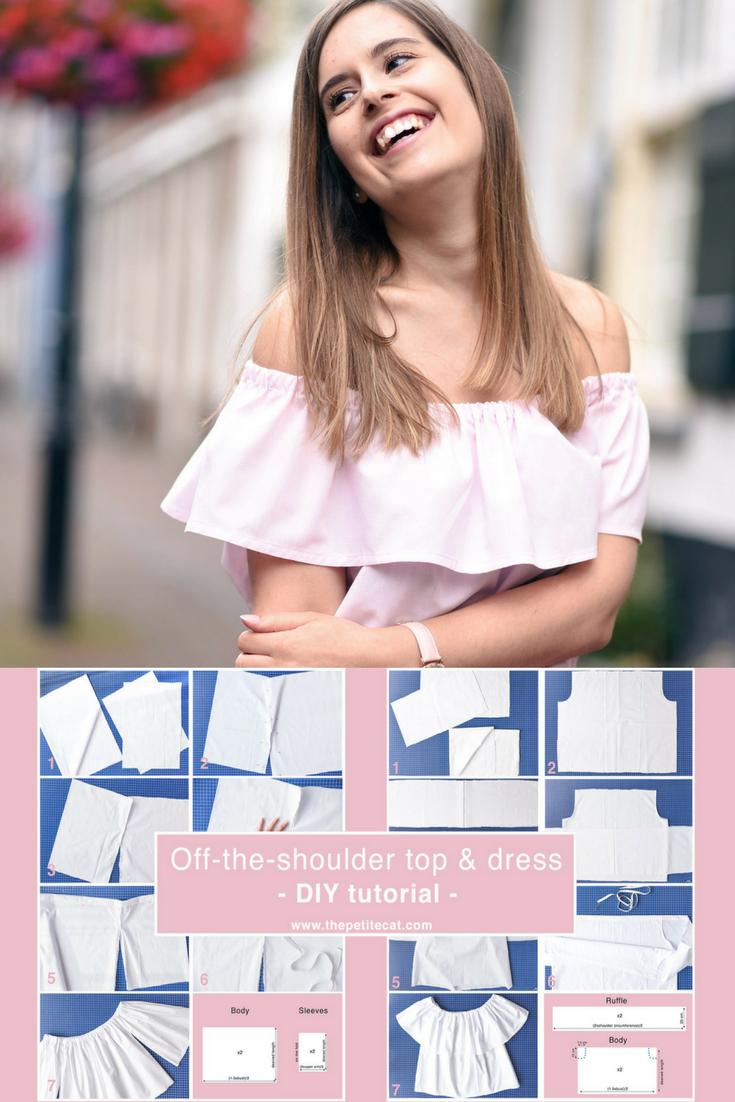 off-the-shoulder-top-dress-tutorial-thepetitecat-pinterest