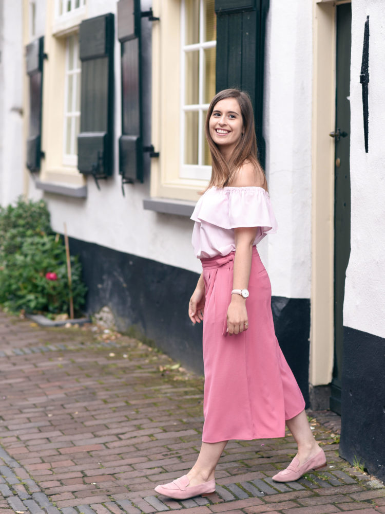 Pink on pink | How to wear culottes