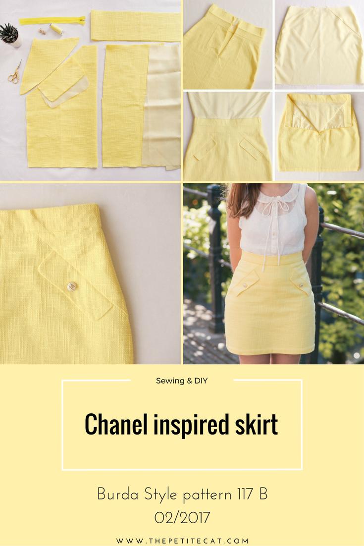 DIY Chanel inspired skirt