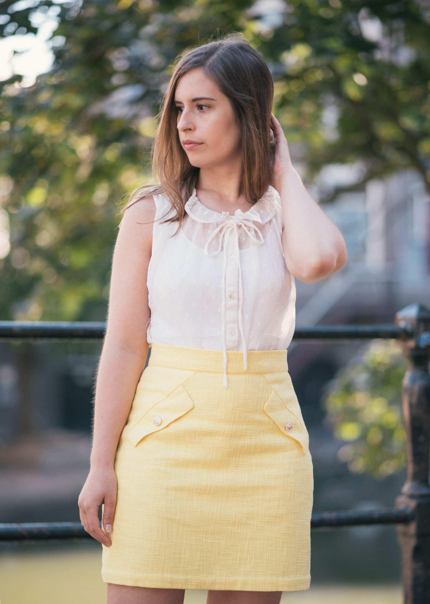 summer-lemon-yellow-thepetitecat-chanel-skirt