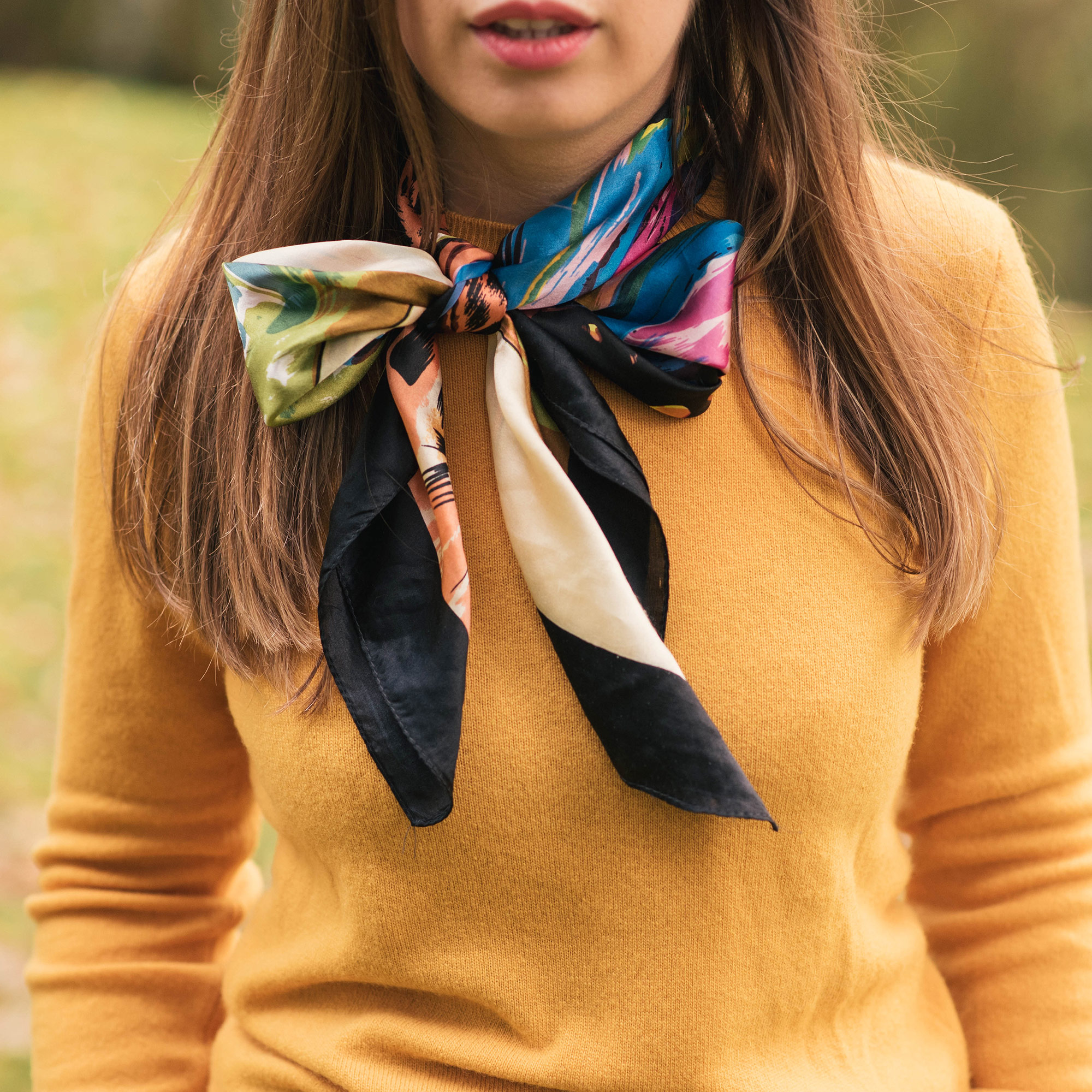 sweater-weather-transform-dull-sweater-bright-colored-scarf
