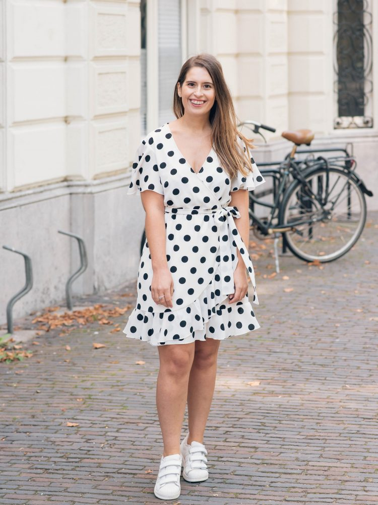 What I made | A polka dot wrap dress (Simplicity 8608)
