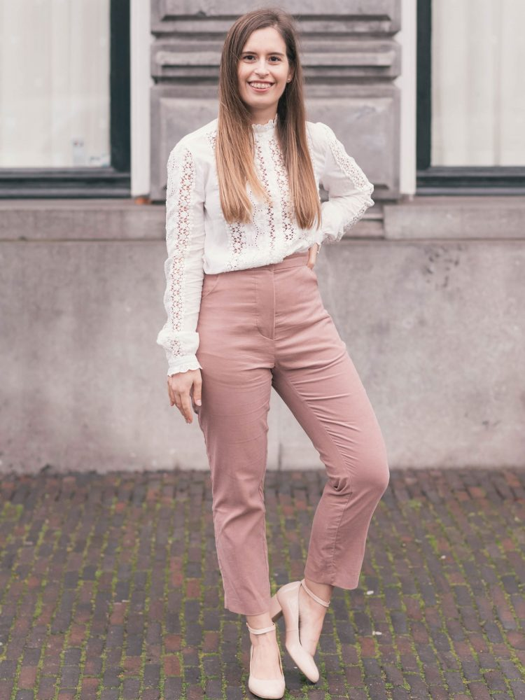 What I made | Pink corduroy trousers